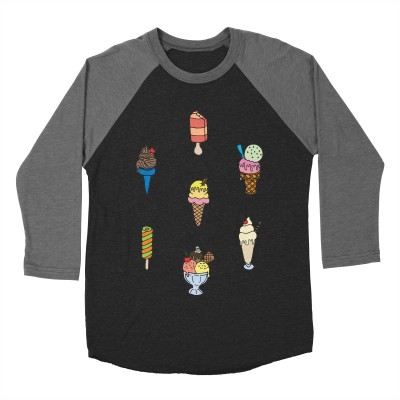 Ice Creams! Women's Baseball Triblend T-Shirt by Pony Biam!
