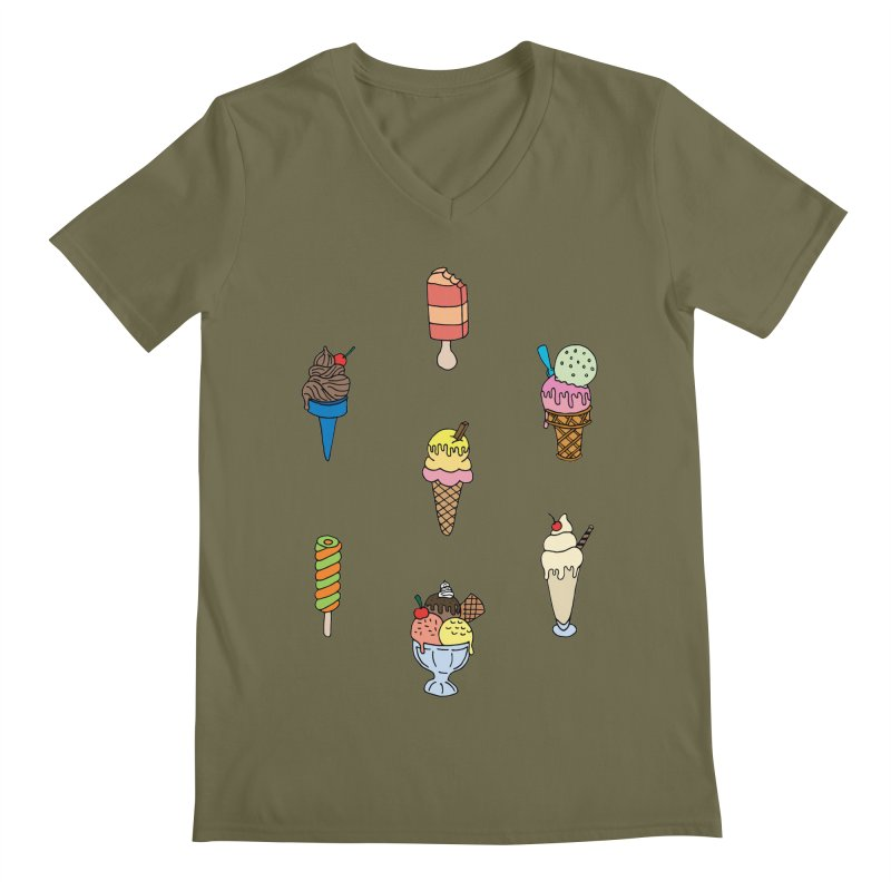 Ice Creams! Men's V-Neck by Pony Biam!