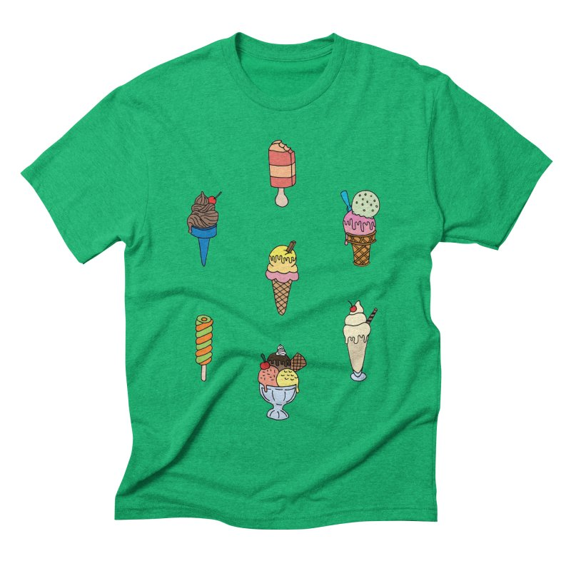 Ice Creams! Men's Triblend T-shirt by Pony Biam!