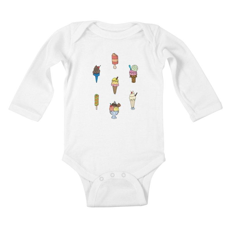 Ice Creams! Kids Baby Longsleeve Bodysuit by Pony Biam!