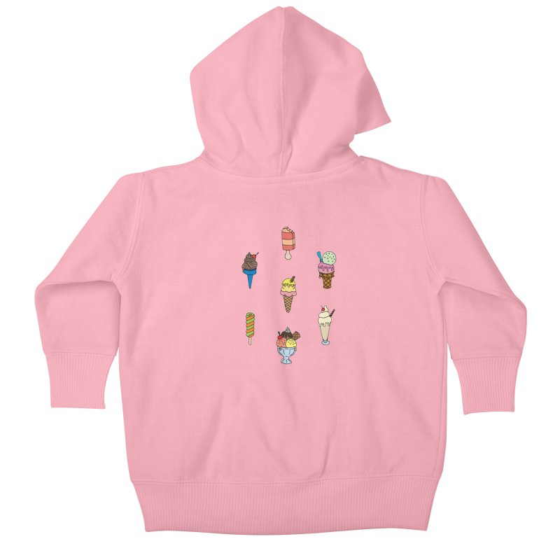 Ice Creams! Kids Baby Zip-Up Hoody by Pony Biam!
