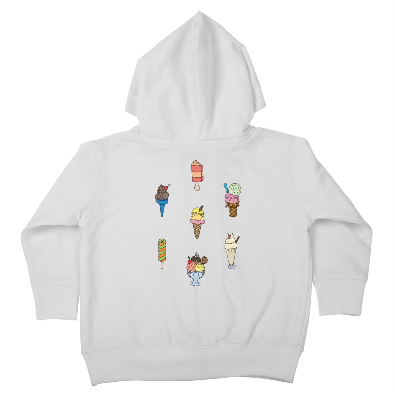 Ice Creams! Kids Toddler Zip-Up Hoody by Pony Biam!