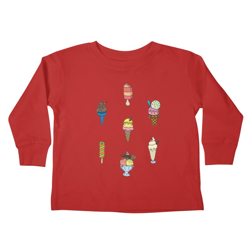 Ice Creams! Kids Toddler Longsleeve T-Shirt by Pony Biam!