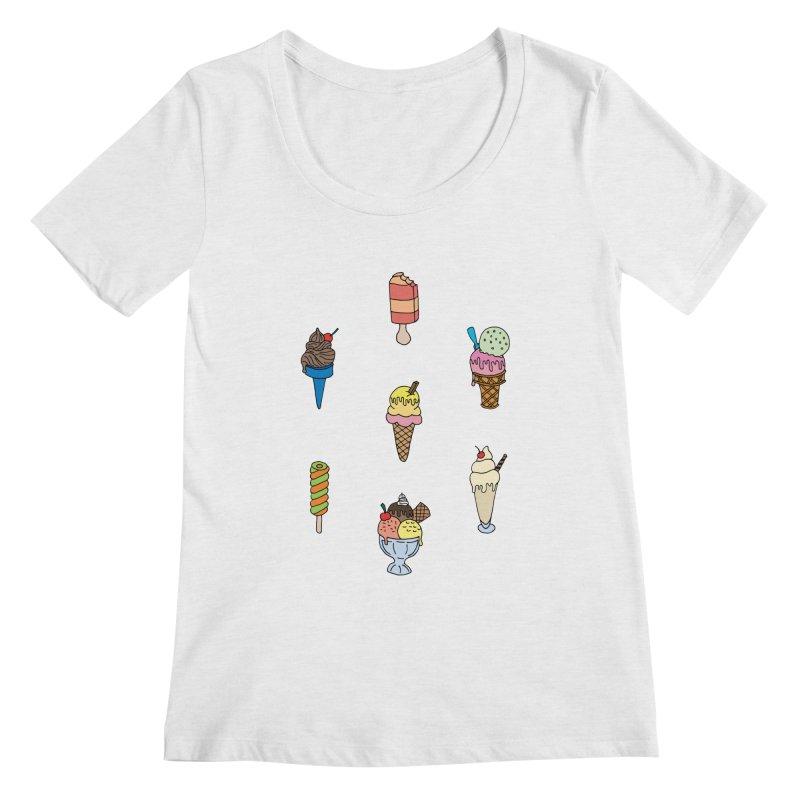 Ice Creams! Women's Scoopneck by Pony Biam!
