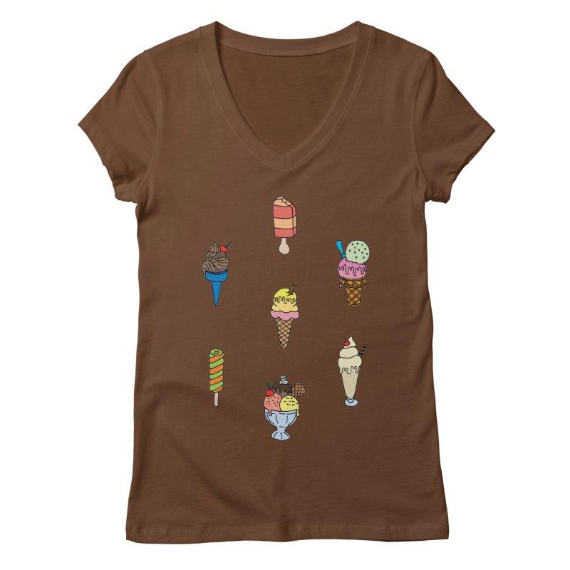 Ice Creams! Women's V-Neck by Pony Biam!