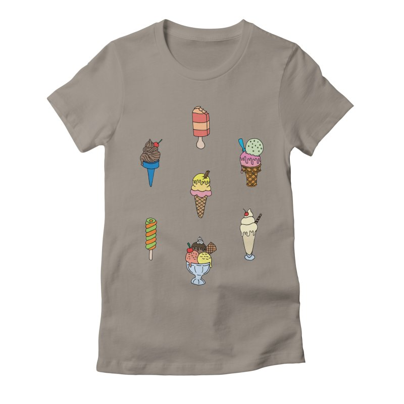 Ice Creams! Women's Fitted T-Shirt by Pony Biam!