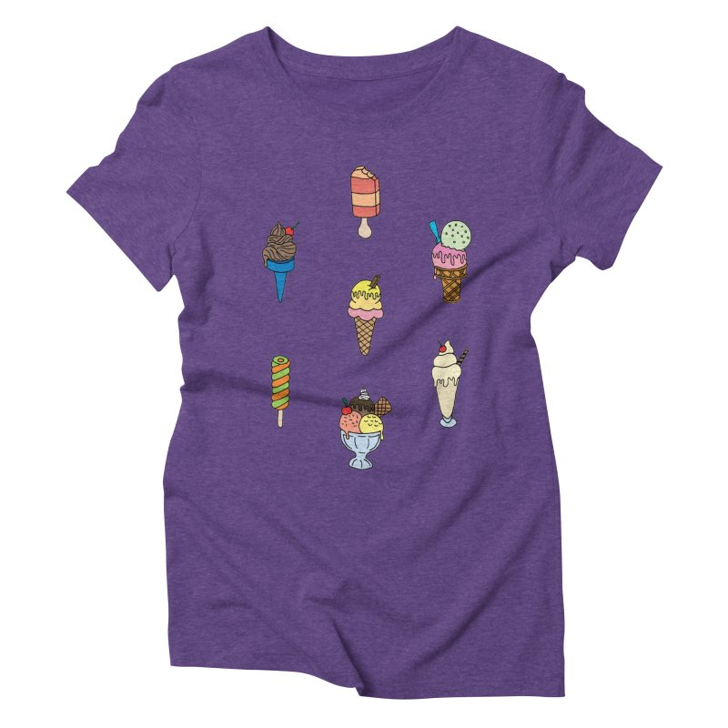 Ice Creams! Women's Triblend T-shirt by Pony Biam!