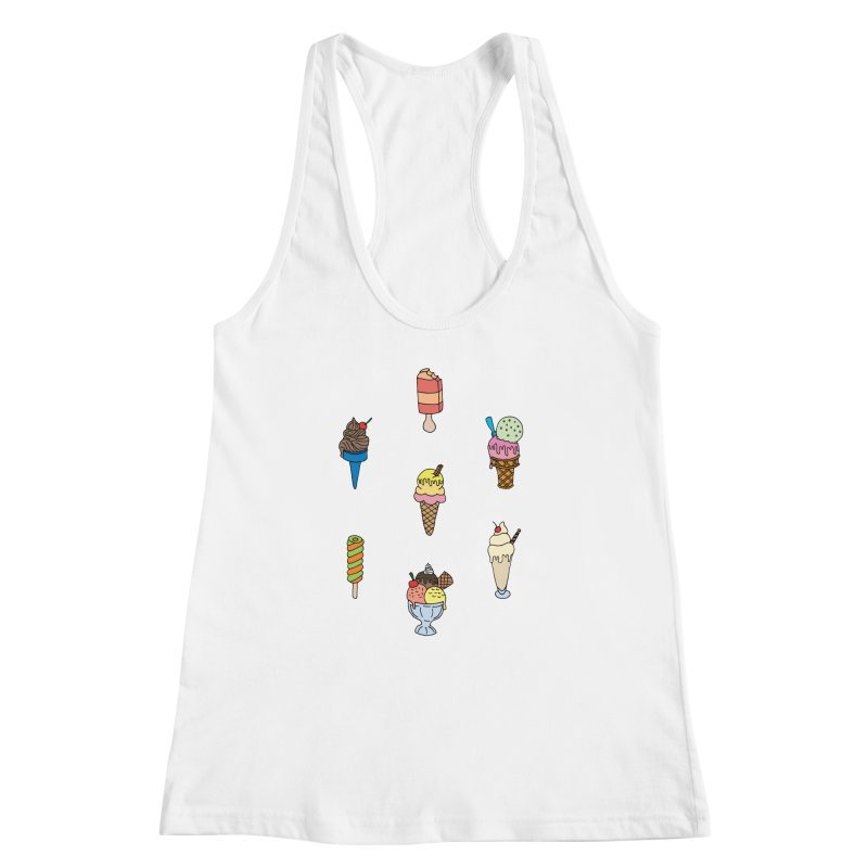 Ice Creams! Women's Racerback Tank by Pony Biam!