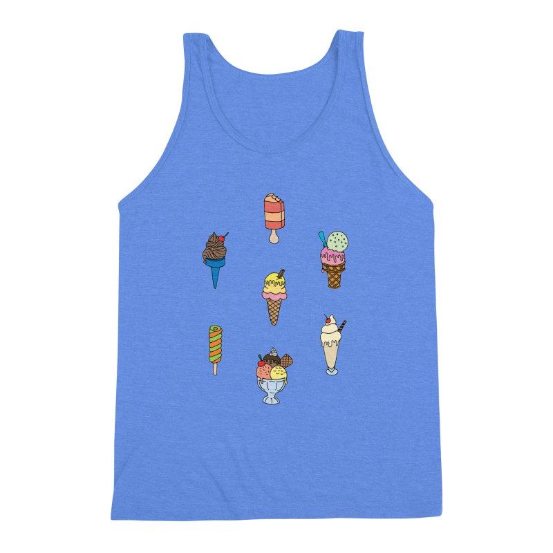 Ice Creams! Men's Triblend Tank by Pony Biam!