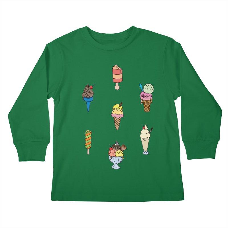 Ice Creams! Kids Longsleeve T-Shirt by Pony Biam!