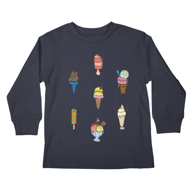 Ice Creams! Kids Longsleeve T-Shirt by Pony Biam!