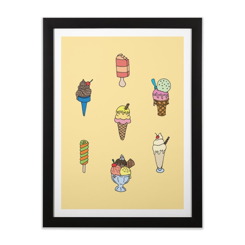 Ice Creams! Home Framed Fine Art Print by Pony Biam!