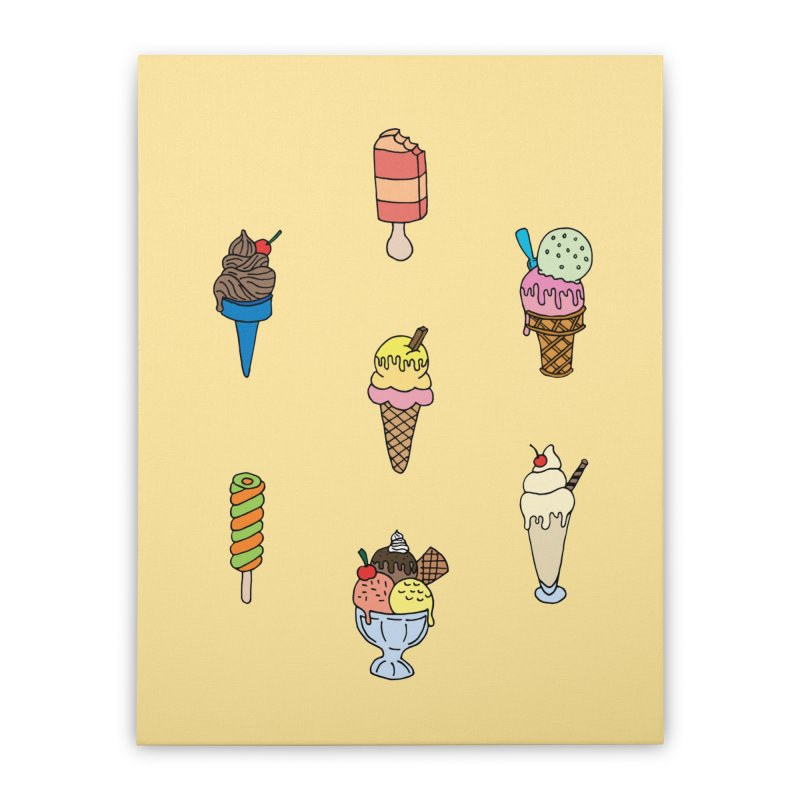 Ice Creams! Home Stretched Canvas by Pony Biam!