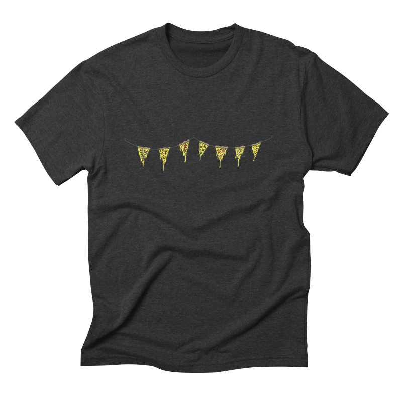 Pizza Pennants Men's Triblend T-Shirt by Pony Biam!