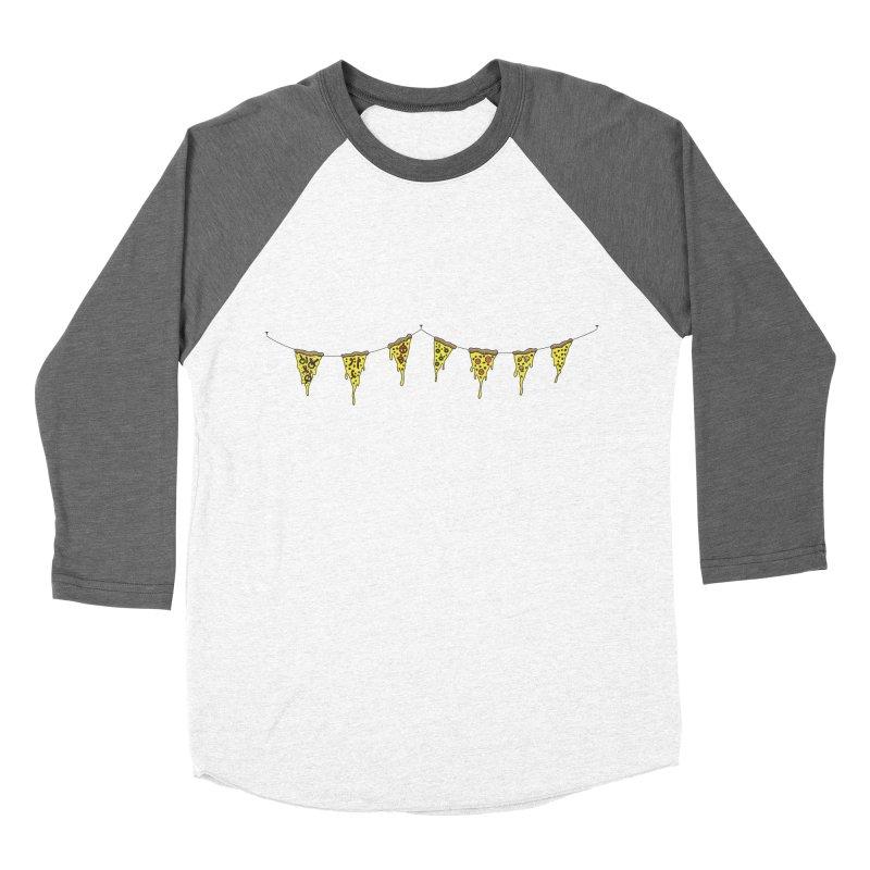 Pizza Pennants Men's Baseball Triblend T-Shirt by Pony Biam!