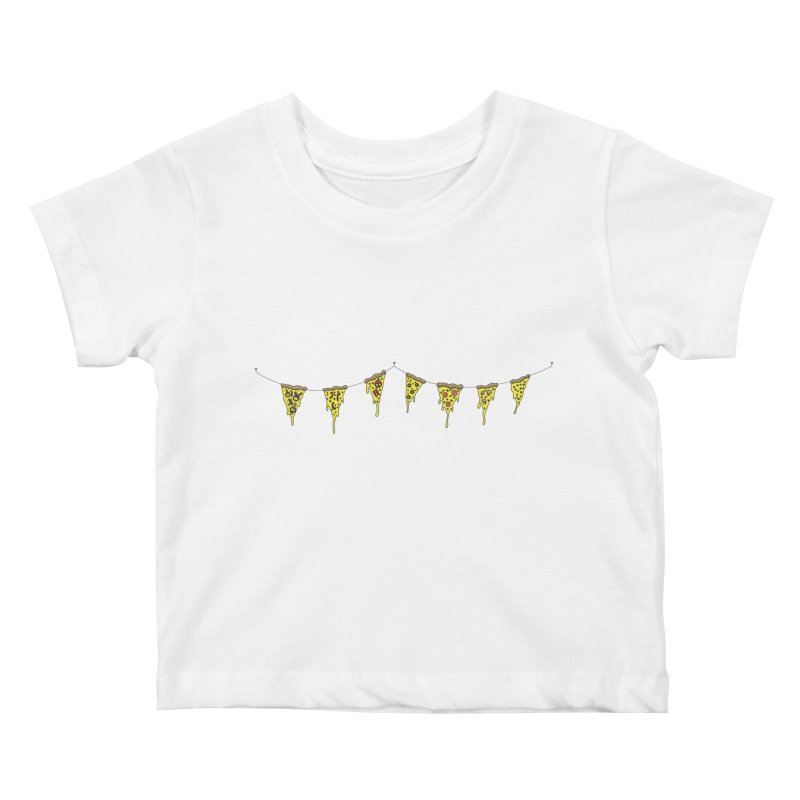 Pizza Pennants Kids Baby T-Shirt by Pony Biam!