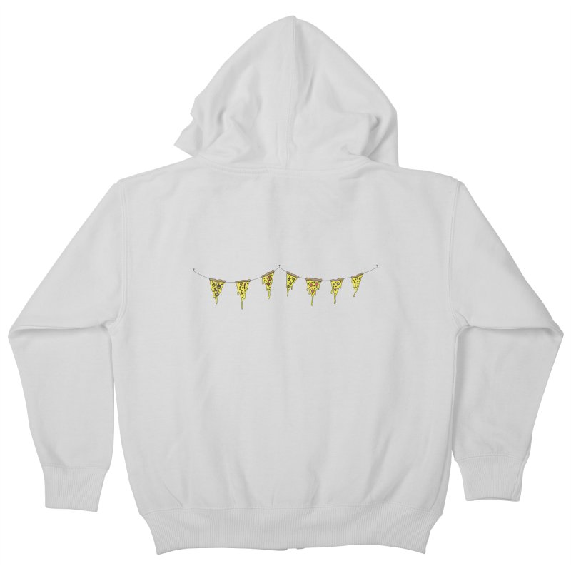 Pizza Pennants Kids Zip-Up Hoody by Pony Biam!