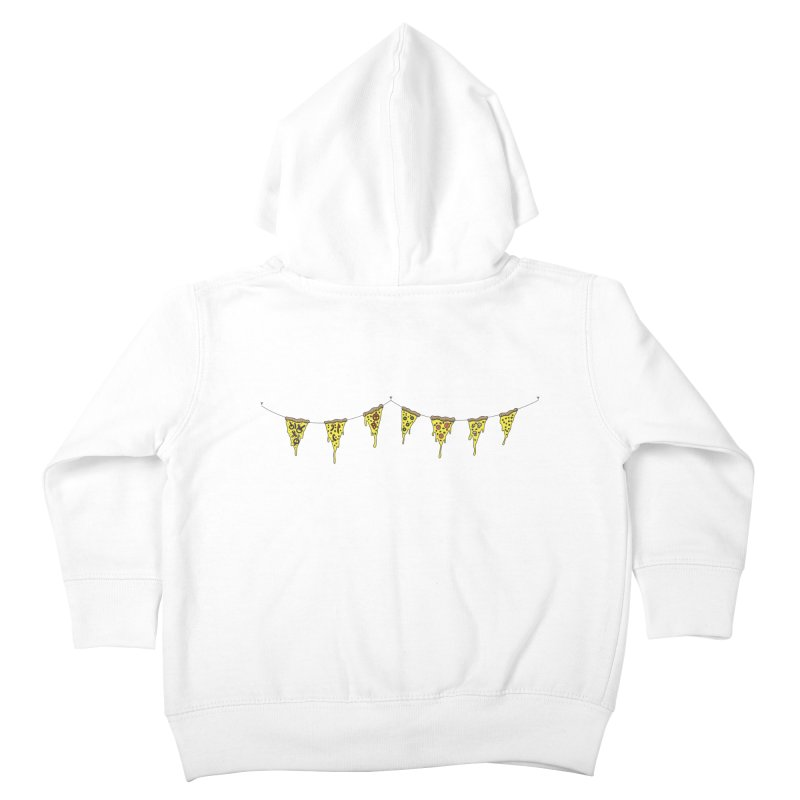 Pizza Pennants Kids Toddler Zip-Up Hoody by Pony Biam!
