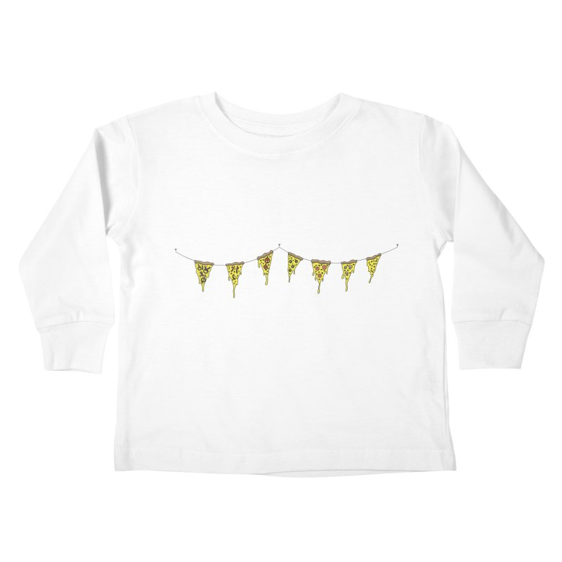 Pizza Pennants Kids Toddler Longsleeve T-Shirt by Pony Biam!