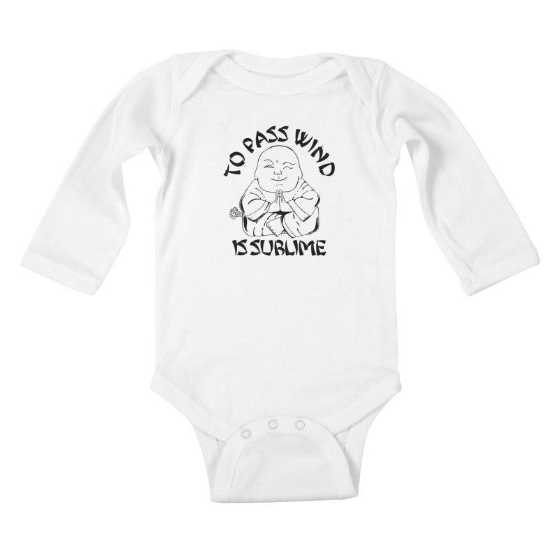 Tooting Buddah Kids Baby Longsleeve Bodysuit by Strange Menagerie