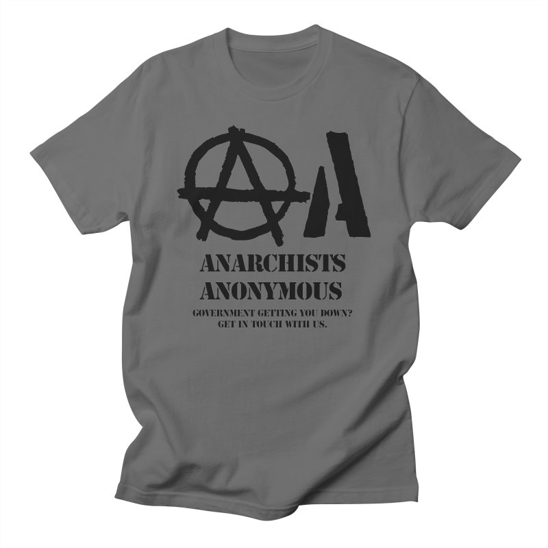 Anarchists Anonymous - Black Lettering Men's Lounge Pants by Strange Menagerie
