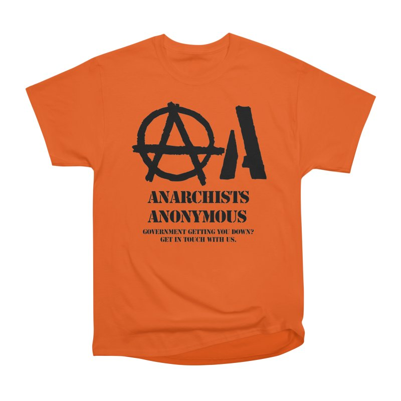 Anarchists Anonymous - Black Lettering Men's Classic T-Shirt by Strange Menagerie