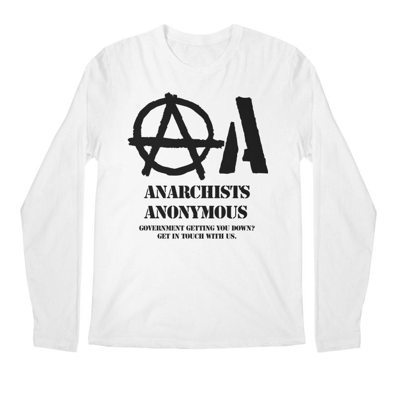 Anarchists Anonymous - Black Lettering Men's Longsleeve T-Shirt by Strange Menagerie