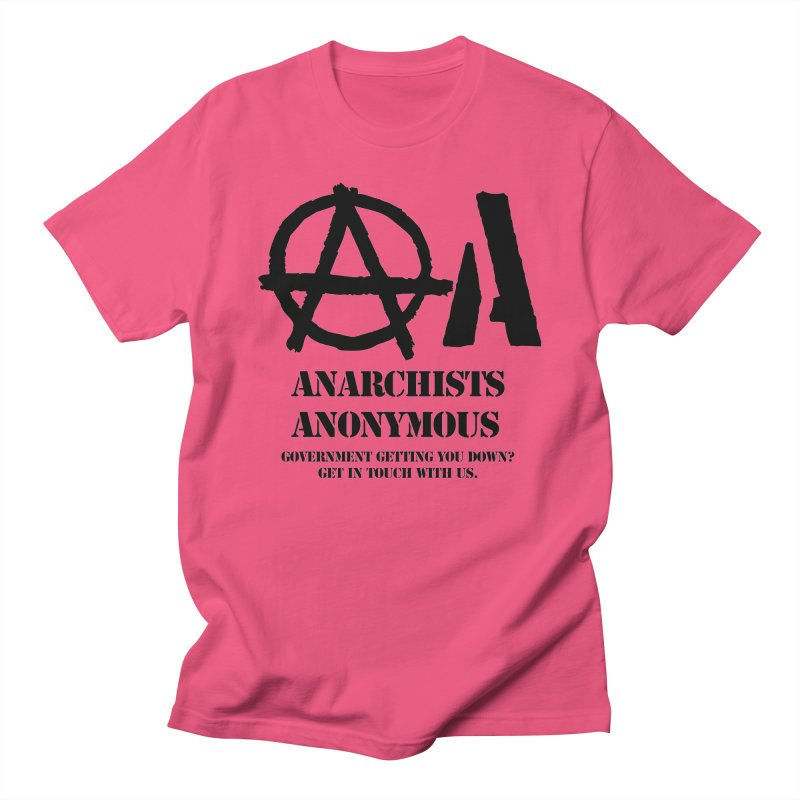 Anarchists Anonymous - Black Lettering Women's Unisex T-Shirt by Strange Menagerie