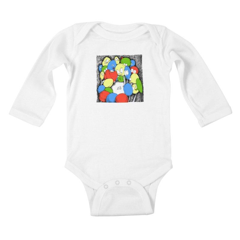 Suckers! Kids Baby Longsleeve Bodysuit by Strange Menagerie