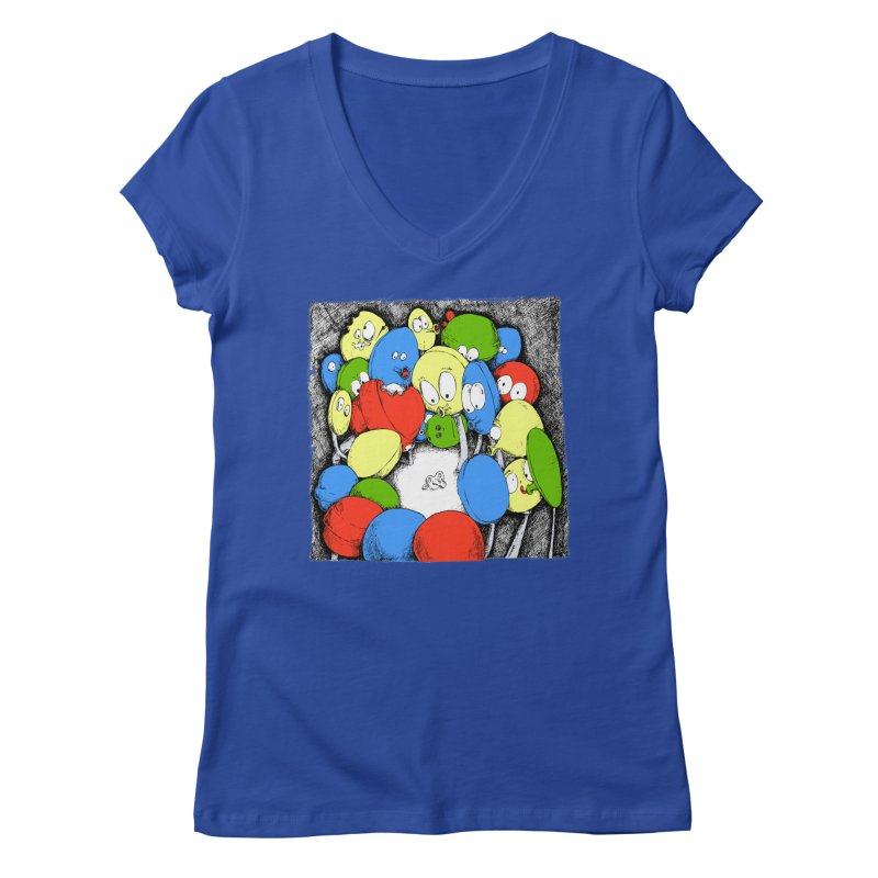 Suckers! Women's V-Neck by Strange Menagerie