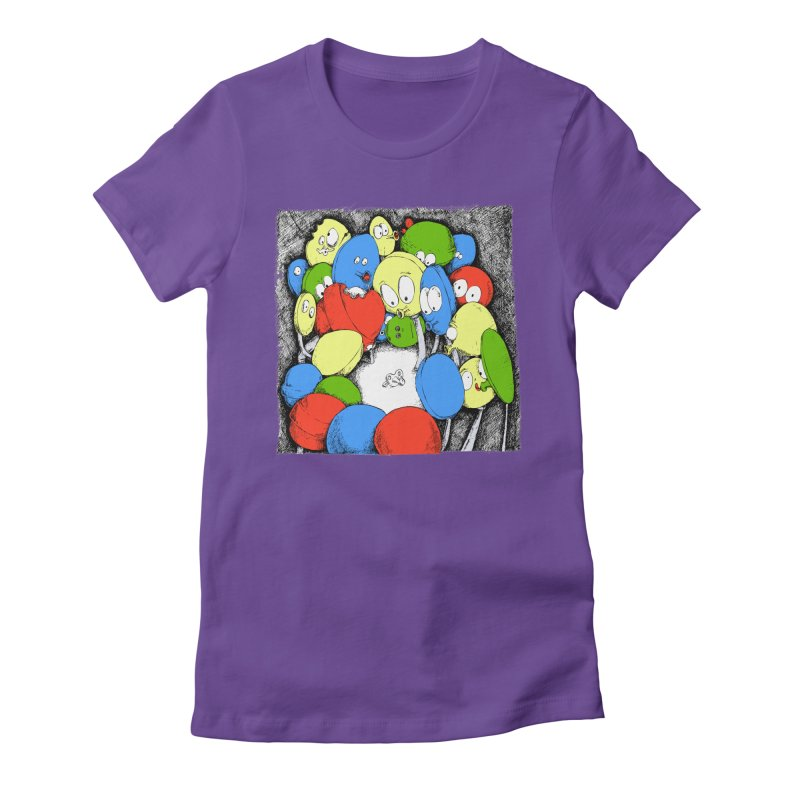 Suckers! Women's Fitted T-Shirt by Strange Menagerie