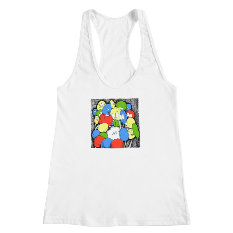 Suckers! Women's Racerback Tank by Strange Menagerie