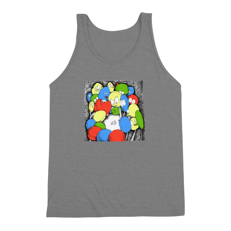 Suckers! Men's Triblend Tank by Strange Menagerie