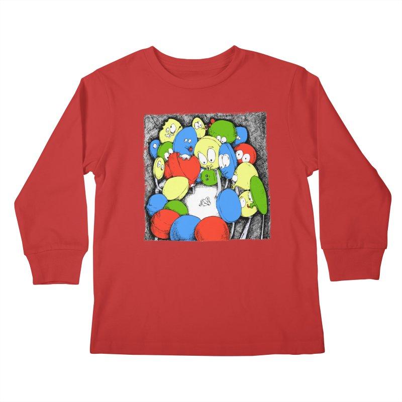 Suckers! Kids Longsleeve T-Shirt by Strange Menagerie