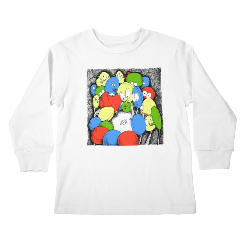 Suckers! Kids Longsleeve T-Shirt by Strange Menagerie