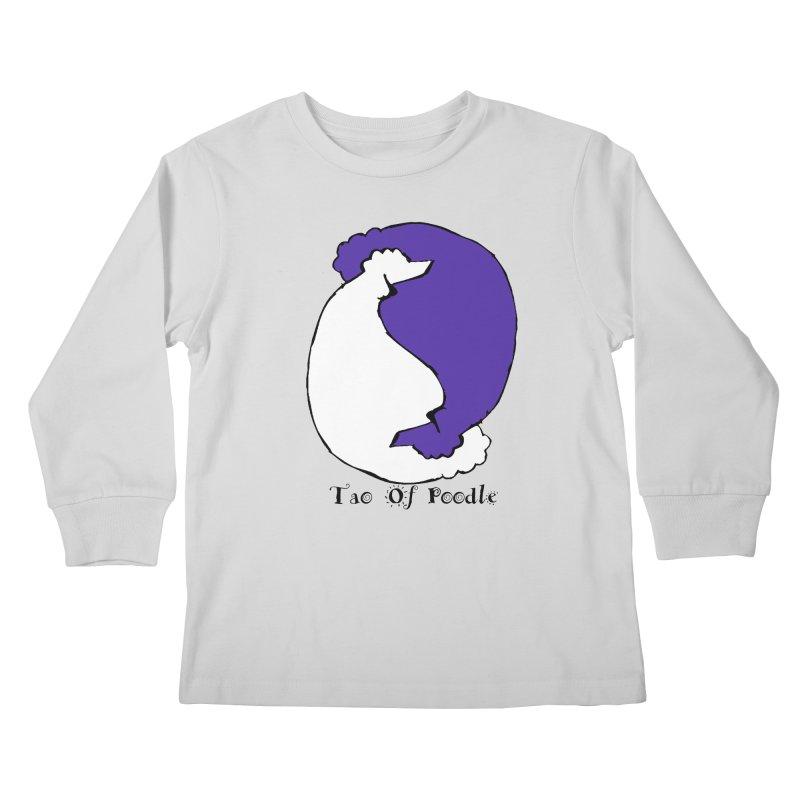 Tao Of Poodle Kids Longsleeve T-Shirt by Strange Menagerie