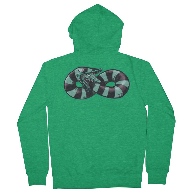 Infinity Worm Men's French Terry Zip-Up Hoody by Poopsmoothie