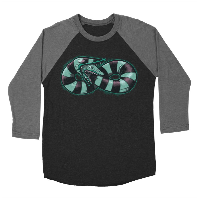 Infinity Worm Men's Baseball Triblend T-Shirt by Poopsmoothie