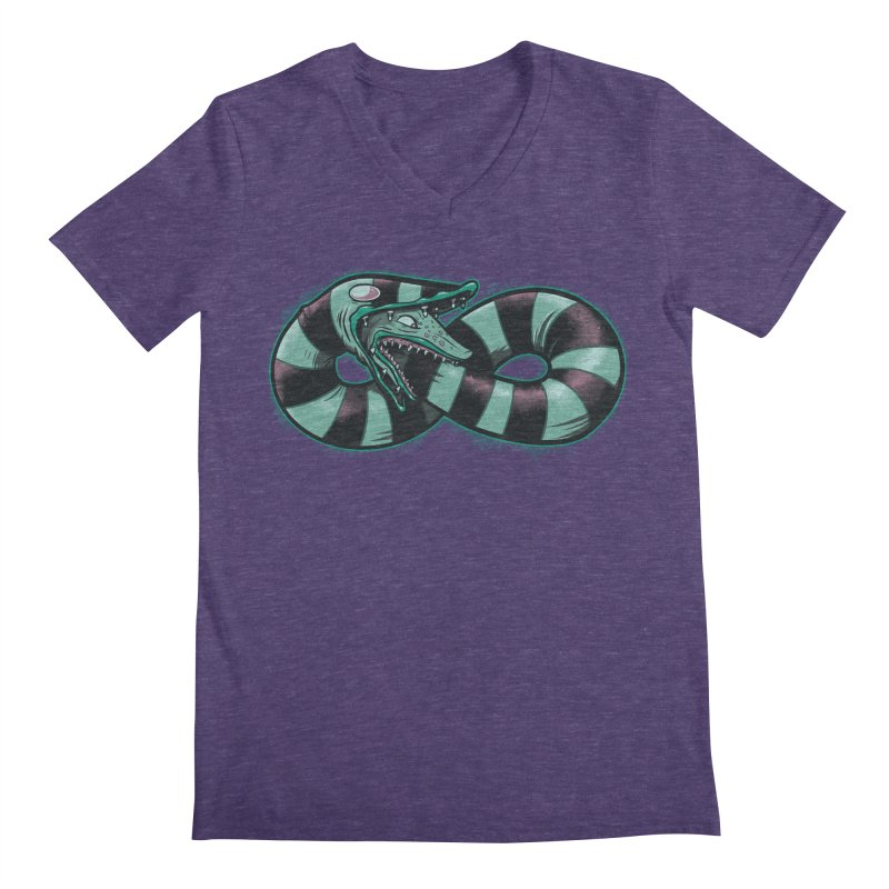Infinity Worm Men's V-Neck by Poopsmoothie