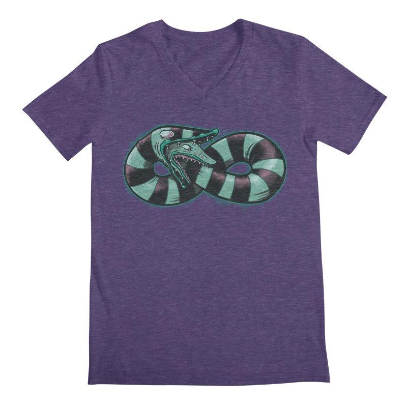 Infinity Worm Men's Regular V-Neck by Poopsmoothie