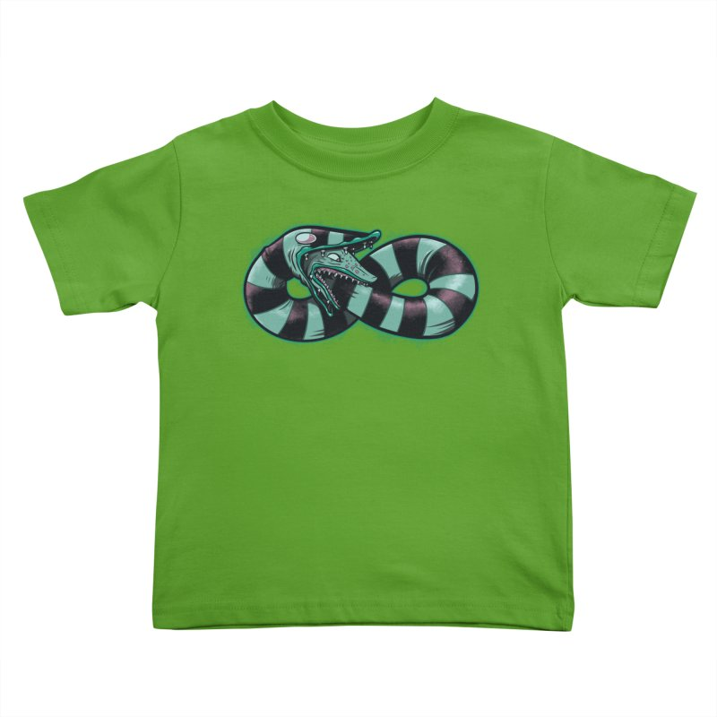 Infinity Worm Kids Toddler T-Shirt by Poopsmoothie