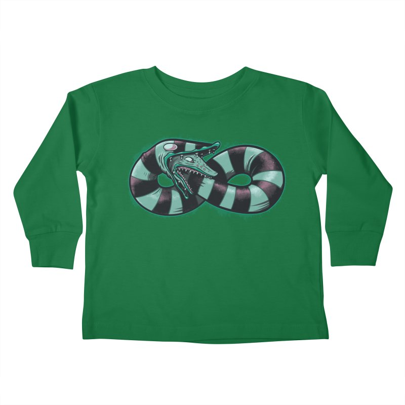 Infinity Worm Kids Toddler Longsleeve T-Shirt by Poopsmoothie