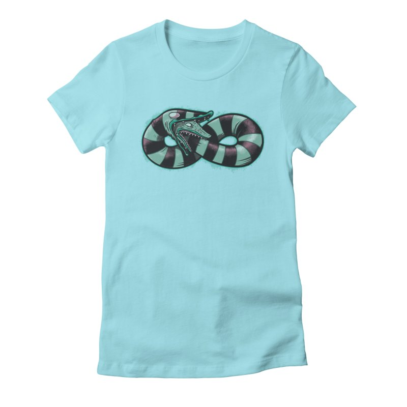 Infinity Worm Women's Fitted T-Shirt by Poopsmoothie