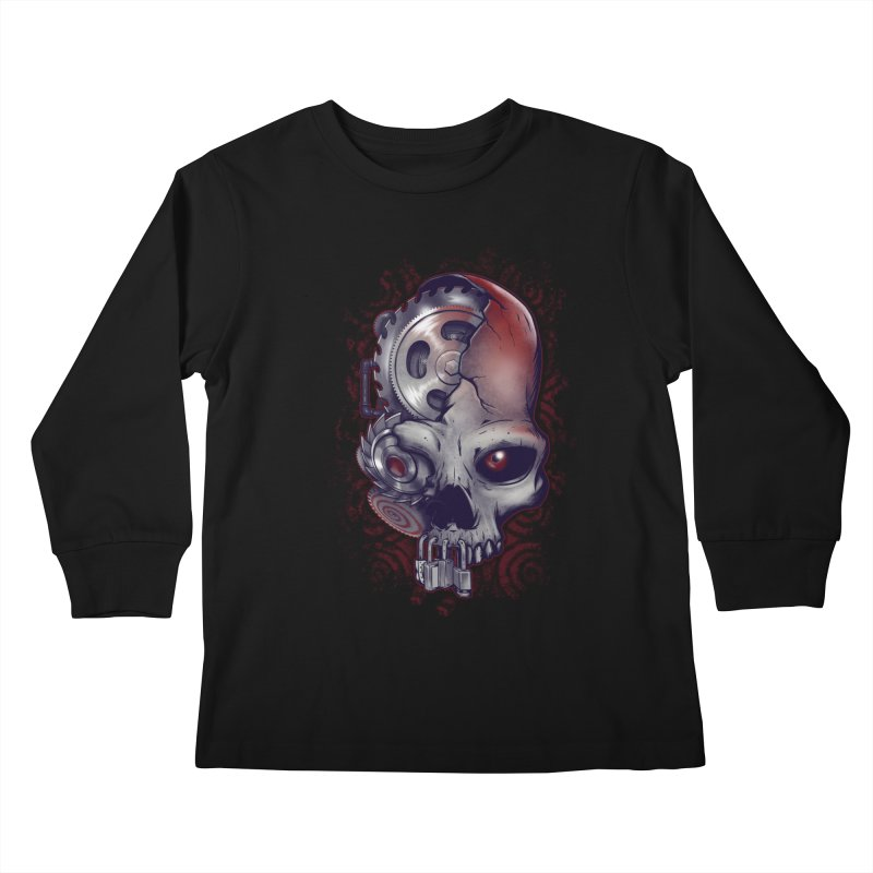 Playing games Kids Longsleeve T-Shirt by Poopsmoothie