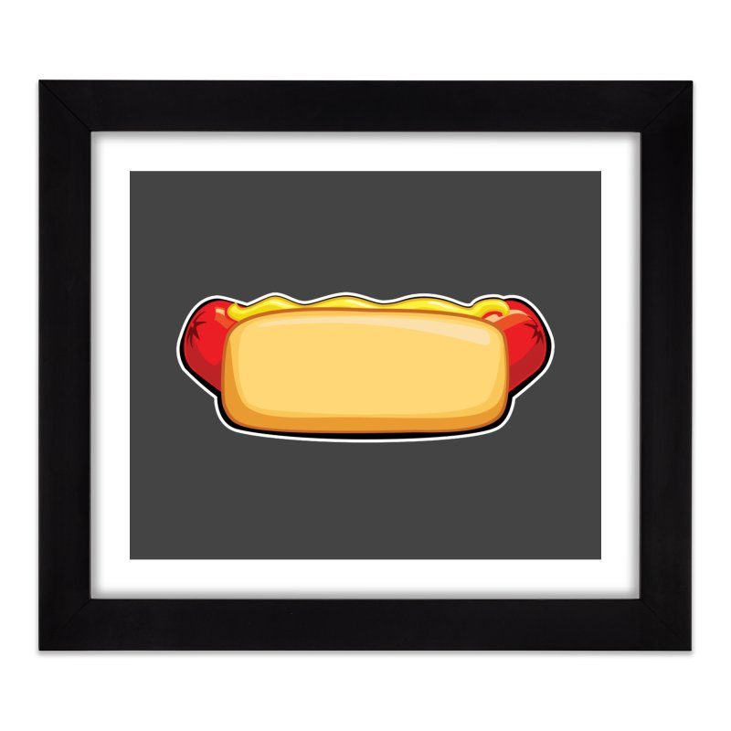 HotDog Home Framed Fine Art Print by Popcycle