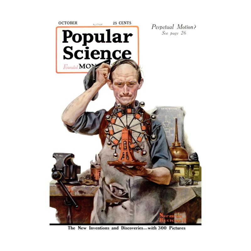 Popular Science Vintage Cover - October 1920 Men's T-Shirt by Popular Science Shop