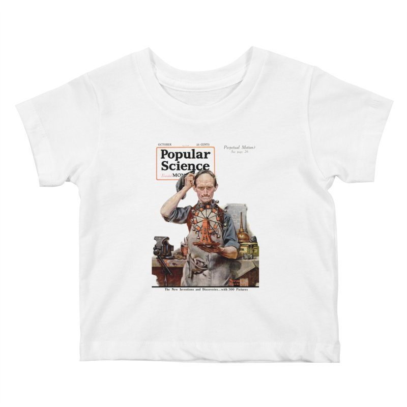 Popular Science Vintage Cover - October 1920 Kids Baby T-Shirt by Popular Science Shop