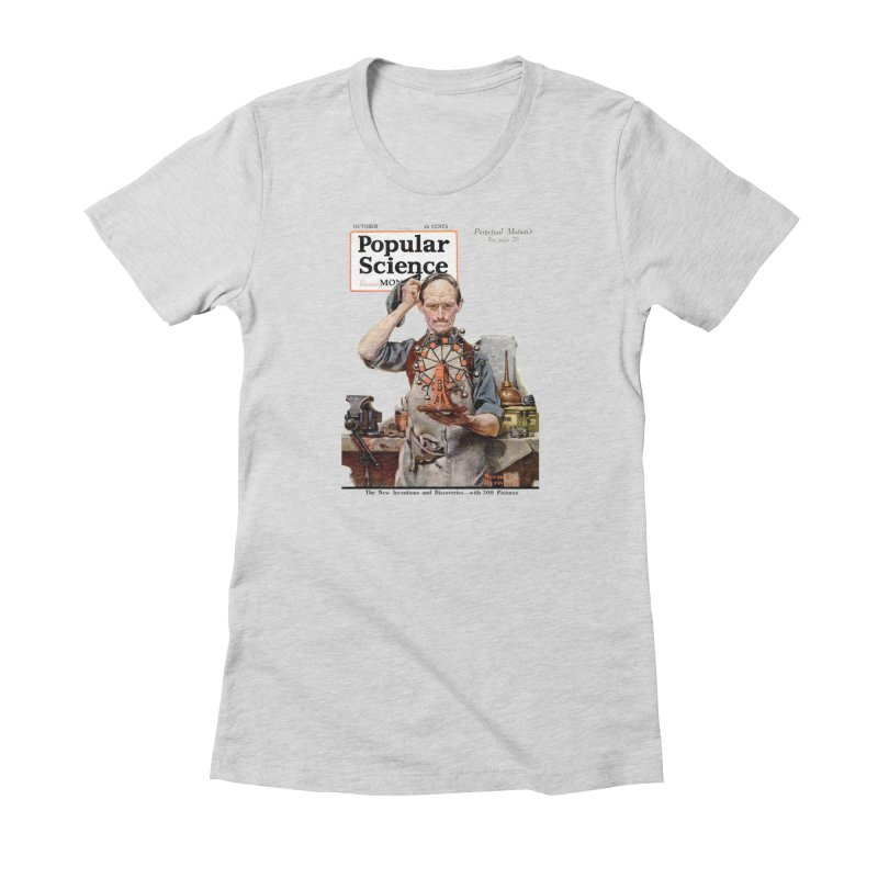 Popular Science Vintage Cover - October 1920 in Women's Fitted T-Shirt Heather Grey by Popular Science Shop