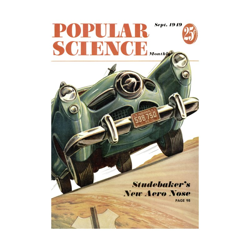 Popular Science Vintage Cover - September 1949 Men's T-Shirt by Popular Science Shop