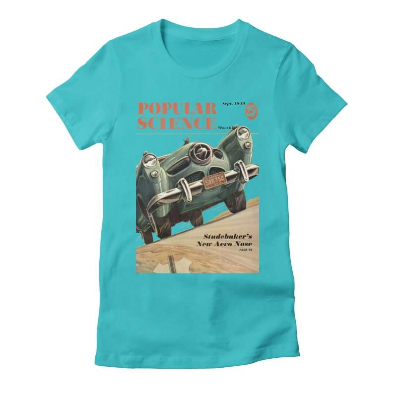 Popular Science Vintage Cover - September 1949 Women's Fitted T-Shirt by Popular Science Shop